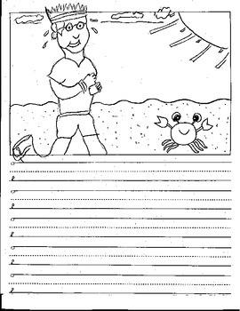 Kindergarten CVC Sentence Story Starters Picture Prompts V
