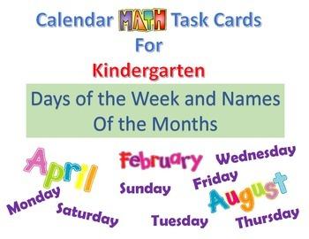 Kindergarten Calendar Activity Days of the week Months of