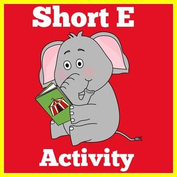 Kindergarten Literacy Center | Short E Activity