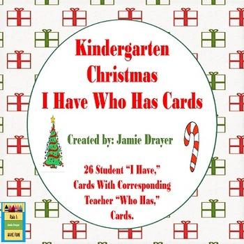 Kindergarten Christmas Artifacts and Symbols I Have Who Ha