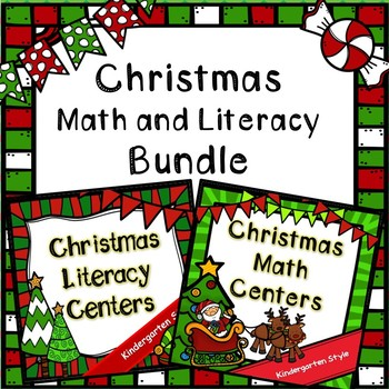 Kindergarten Christmas Center Bundle- Math Centers, Litera