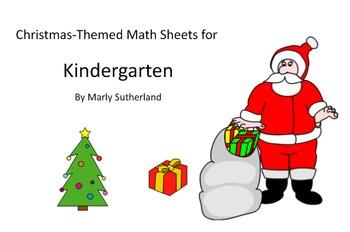 Kindergarten Christmas Math Sheets