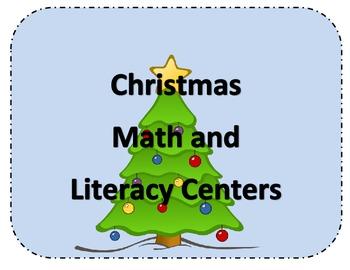Kindergarten Christmas Math and Literact Centers