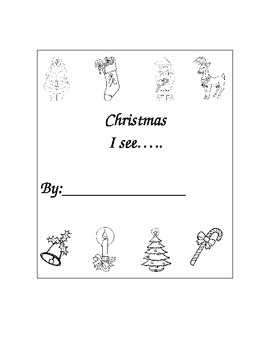 "Kindergarten ""Christmas....I See Sight Word Book For Readi"