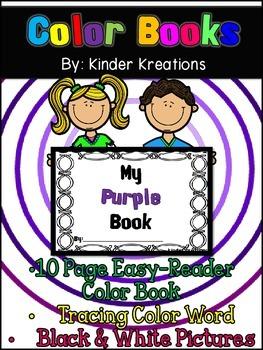 Kindergarten Color Book - Purple