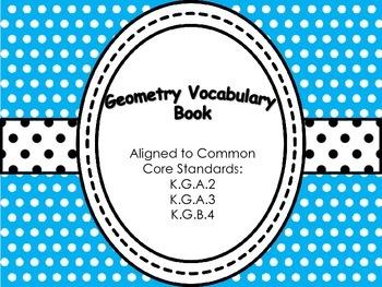 Kindergarten Color Shapes Vocabulary Book: K.G.A.2, K.G.A.