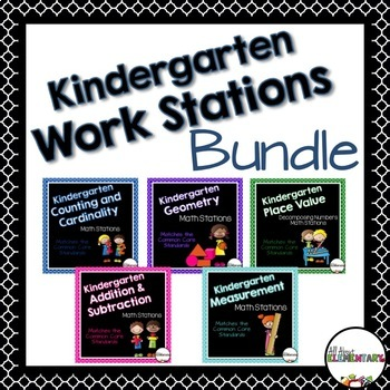 Kindergarten Common Core Math Work Stations Bundle