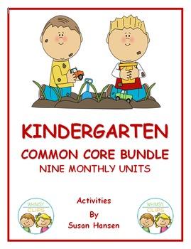 Kindergarten Bundle: Nine Monthly Units of Activities