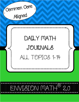 Kindergarten Common Core Daily Math Journals - BUNDLE - En