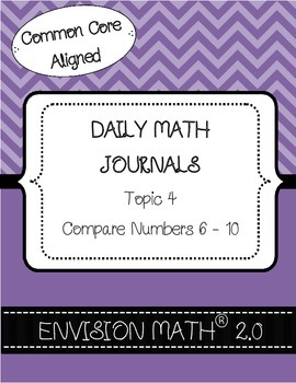 Kinder Common Core Daily EnVision Math® Journals, Topic 4