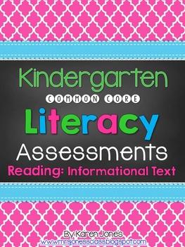 Kindergarten Common Core ELA Assessments - Reading: Inform