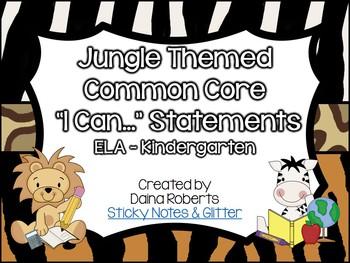 "Kindergarten Common Core ELA & Math ""I Can"" Statements - J"
