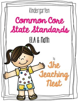 Kindergarten Common Core ELA & Math Standards