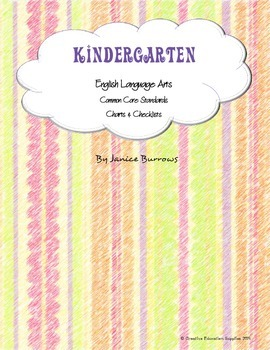 Kindergarten Common Core English Language Arts Charts & Ch