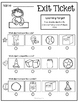 Kindergarten Common Core Exit Tickets for Little People: Geometry