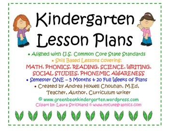 Kindergarten Common Core Lesson Plans - 12345 Full Months!