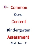 Kindergarten Common Core Math Assessment Package 2  Tests