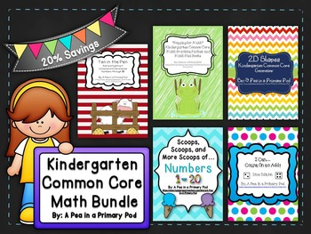 Kindergarten Common Core Math Bundle: Numbers, Counting, S