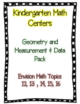 Geometry & Measurement Kindergarten Math Centers (Envision