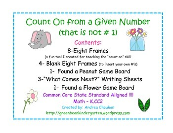 Kindergarten Common Core Math - Counting On from Other Num