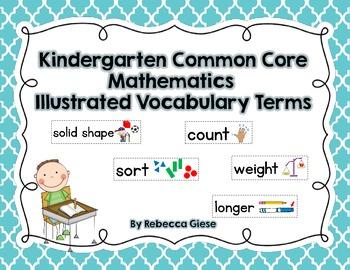 Kindergarten Common Core Math Word Wall
