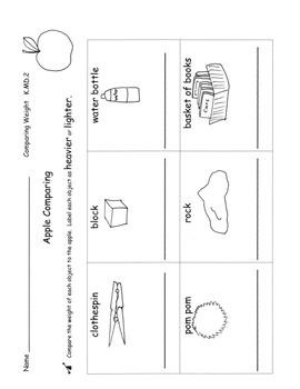Kindergarten Common Core Measurement Unit PACK lesson plan