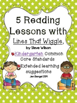 """Kindergarten Common Core Reading Lessons for """"Lines That Wiggle"""""""