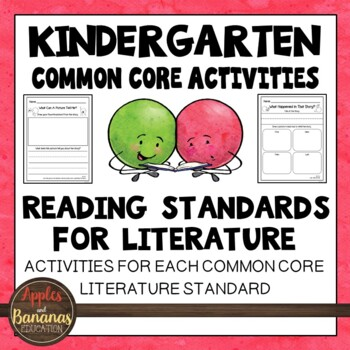Literature Activity Bundle: Kindergarten Reading - CCSS