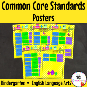 Kindergarten Common Core Standards Posters {English Langua