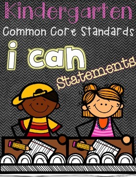 Kindergarten :: Common Core Standards :: I CAN statements