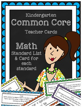 Kindergarten Math Common Core Learning Standards- Teacher