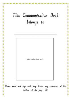 Kindergarten Communication Book (NSW Foundation Font)