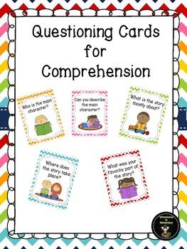 Kindergarten Comprehension Questioning Cards