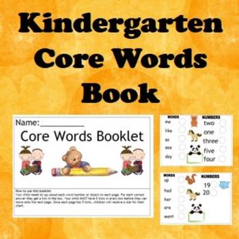 Kindergarten learning book