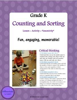 Kindergarten Counting and Sorting . KCC.B4.A, K.CC.B.4.b,