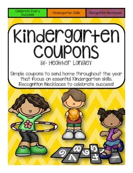 Kindergarten Coupons and Recognition Necklaces