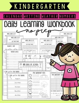 Kindergarten Daily Learning Workbook (No Prep!)