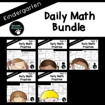 Kindergarten Daily Math (5 Pack Bundle)