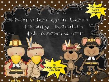 Kindergarten Daily Math November - NO PREP! (Common Core Aligned)