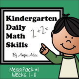 Kindergarten Daily Math Skills Mega Pack #1- Weeks 1-8