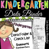 Kindergarten Data Folder - Binder & Checklist~supports Com
