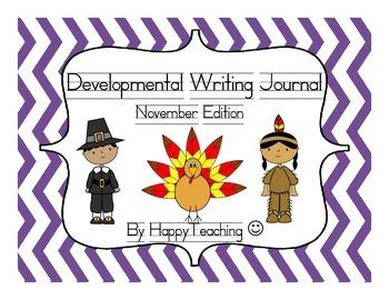 Kindergarten Developmental Writing Journal November Edition