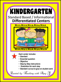 Kindergarten Differentiated Centers for Informational Standards