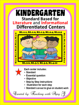 Kindergarten Differentiated Centers for LITERATURE and INF