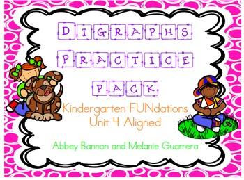 Kindergarten - Digraphs Practice Pack