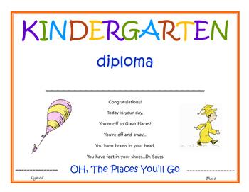 Kindergarten Diploma - Dr. Seuss