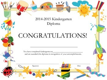 Kindergarten Diploma for Elemantary