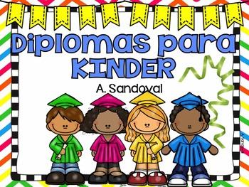 Kindergarten Diplomas in Spanish