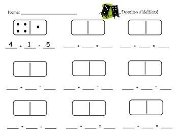 Kindergarten Domino Math
