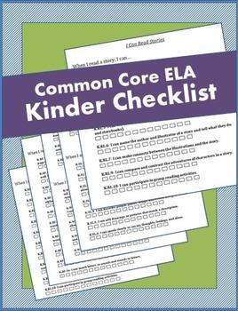 Kindergarten ELA Common Core Checklist